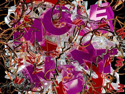 MOVEMENT movement cinema 4d abstract art 3d art typography illustration design