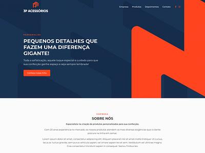Website 3P Acessórios web design