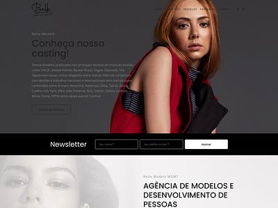 Website Belle Models web design