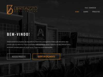 Website Bertazzo Arquitetura web design