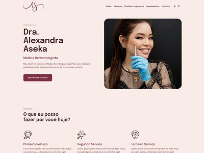Website Dra Alexandra Aseka web design
