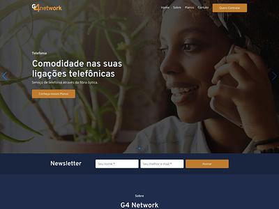 Website G4 Network web design