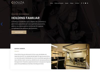 Website Gsouza Advocacia web design