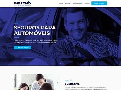 Website Impegno Seguros web design