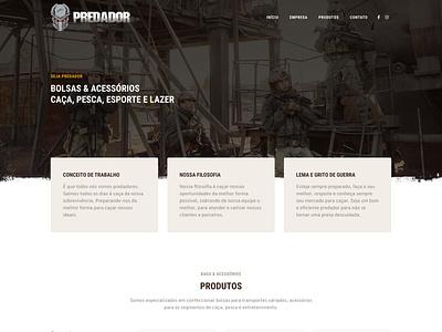 Website Predador Bolsas web design