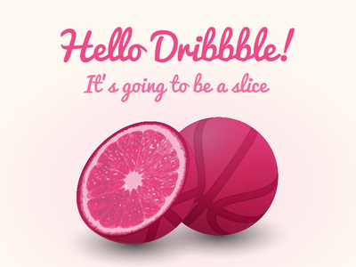 A Slice first shot fruit illustrator debut invite invitation dribbble