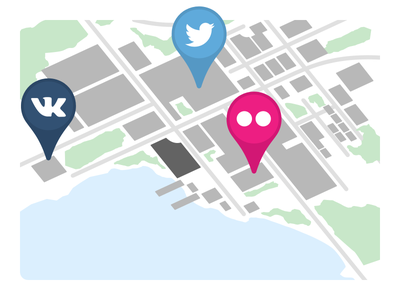 Map Pins echosec twitter social map