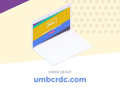 RDC New Website - Social Media Ad branding web design design club student organization design instagram ad facebook ad