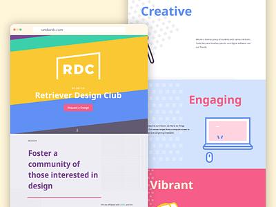 Retriever Design Club New Website animations illustrations branding design front end development web design website