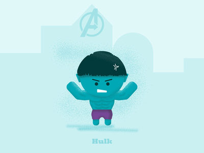"""The Hulk - """"Hulk SMASH"""" fan art speed art illustration grainy textures 3d design flat design hulk avengers: endgame"""