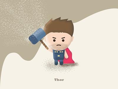 "Thor - ""You people are so petty. And tiny."" loki thor: ragnarok speed art fan art character textures 3d design flat design avengers avengers: endgame thor illustration"