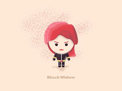 "Black Widow - ""I'm always picking up after you boys"" illustration process speed art fan art illustrations 3d design flat design avengers endgame avengers black widow characters"