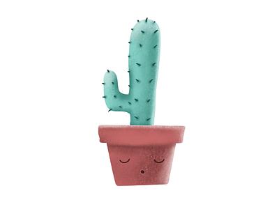 Sleeping Cactus Illustration procreate brushes procreate drawing cactus textures 3d art illustration