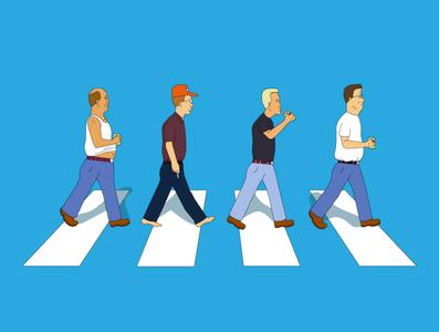 King of Abbey Road cartoon 90s tv funny illustration funny vector illustration shirt