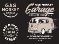 Gas Monkey branding logo illustration austin texas