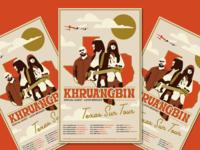 Concert Poster band merch khruangbin concert poster band vector illustration texas