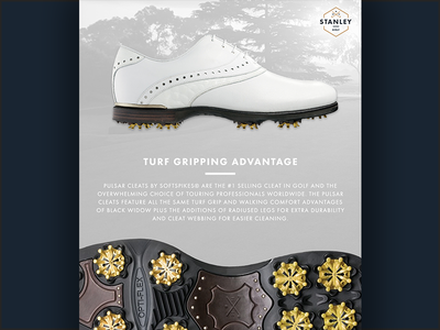 Stanley Golf Shoes  ux ui background logo icon sports cleats page website shoe golf