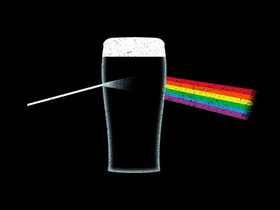 Dark Side of the Pint design vector illustration space beer rainbow shirt music st patricks day