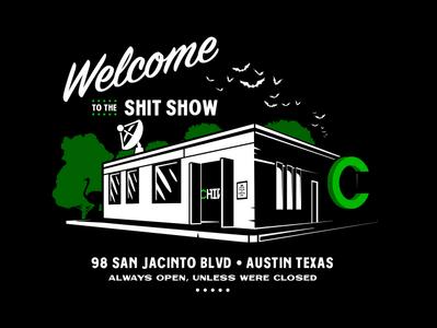 CHIVE HQ shirt branding vector design illustration chive austin shirt texas building