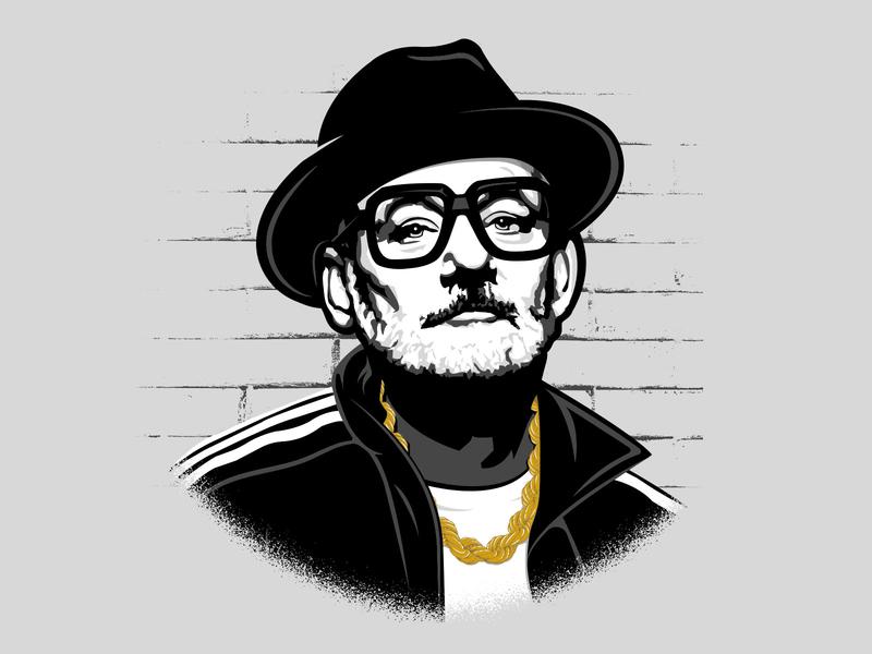 Run BFM illustration shirt vector 80s style bill murray bfm rap music 80s