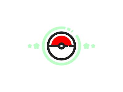 Gotcha! minimal flat dribbble vector illustration design figma pokemon