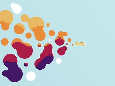 Soaring plane dribbble vector illustration figma design