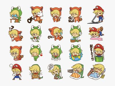 Link Mario Sticker