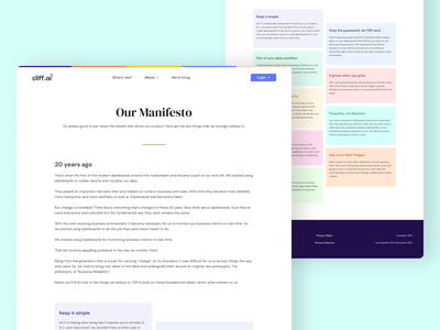 Our Manifesto colors fonts texts cards ux ui design user interface user experience manifesto