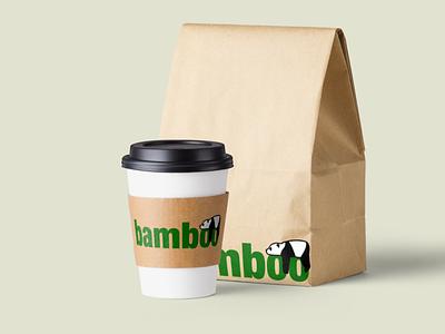 Bamboo Company Logo Mockup flat typography illustration company logo mockup design logo minimal mockups design branding