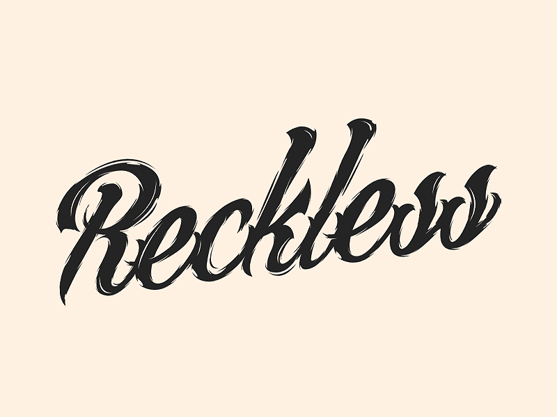 Reckless by Aaron E | Dribbble | Dribbble