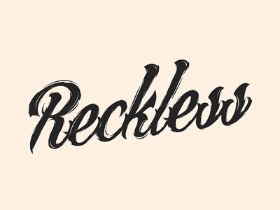Reckless by Aaron E - Dribbble