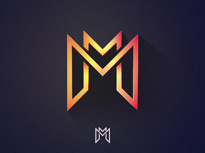 """MarcraM """"M&M"""" Logo vector illustrator ai vintage letter type branding logo m"""