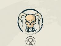 Necro Skull Mascot Logo