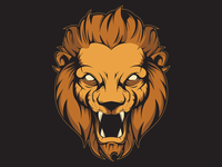 Beasty Games Lion Illustration