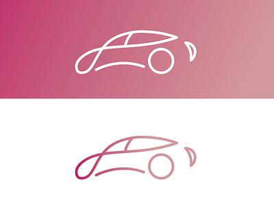 Simple Car Logo minimal illustration icon flat logo design