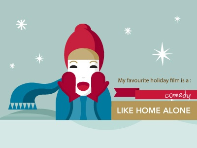 The Infographic Game infographic game illustration holiday home alone die hard its a wonderful life love actually