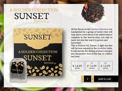 Tea Webshop Product Page webdesign adobe photoshop productpage product webshop ui design