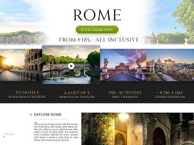 Travel to Rome shopify e-commerce photoshop webshop ux travel webdesign ui design