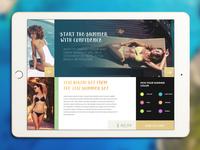 Beachwear iPad catalog