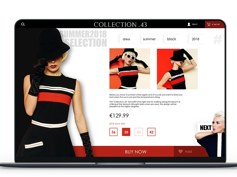 Fashion Website Design design concept fashion web ui user interface webdesign