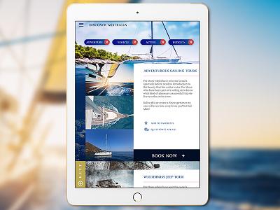Adventure App visual design photoshop ux ui user interaction user interace design. travel ios app
