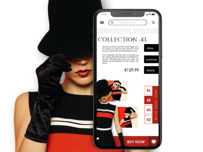 Mobile version of Fashion website responsive mobile ux ui webdesign website ios iphone x