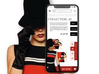 Mobile version of Fashion website
