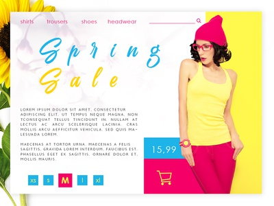 Spring Collection webshop interface webdesign spring ecommerce