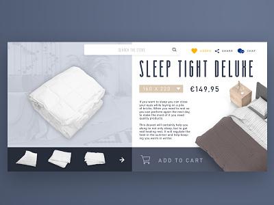 Sleep Shop sleep webdesign page product ecommerce webshop