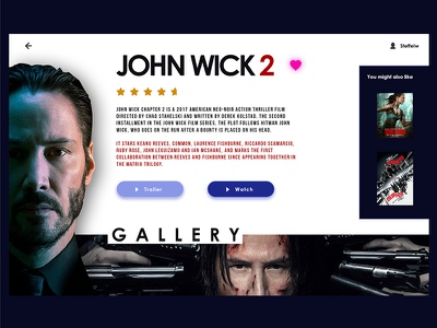 Movie Service design interface movies appdesign app webdesign purple white ux ui web