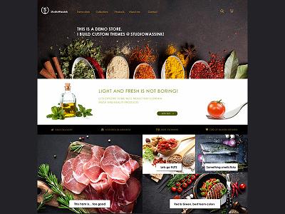 Demo Store theme dark ux ui webshop webdesign shopify