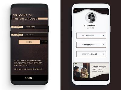 Coffee App Design photoshop ux ui userexperience userinterface android ios app