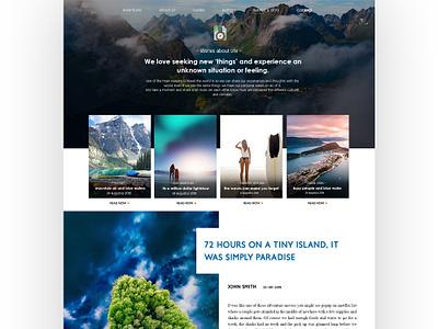 Newer version of Adventure Blog design website blocks white light minimal webdesign travel unserexperience userinterface photoshop ui  ux ui wordpress