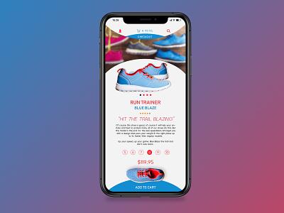 Mobile Webshop Design material clean minimal blue white iphonex webdesign ecommerce webshop